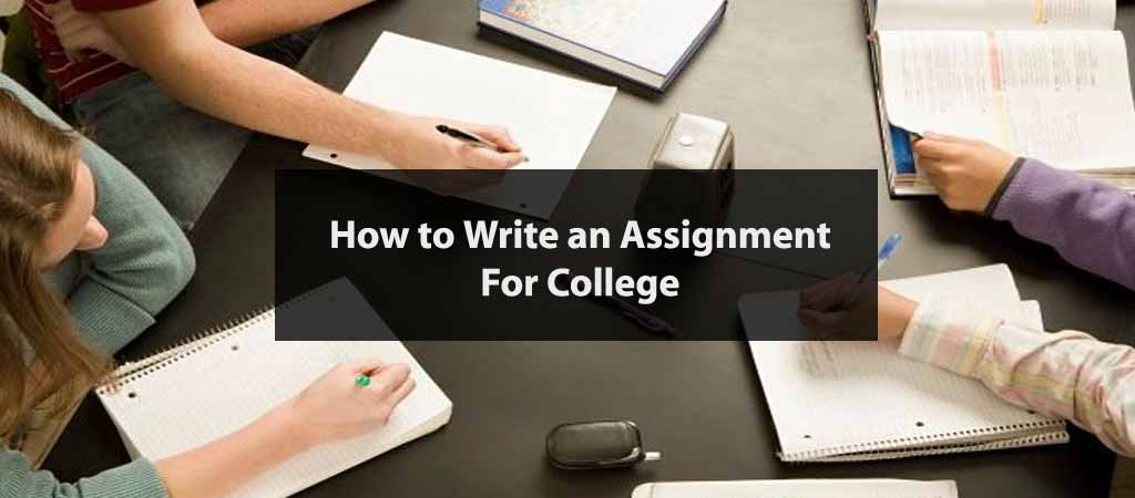 write an assignment for college